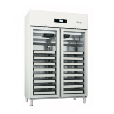 Dulap frigorific dublu pentru farmacie , 1400 litri , usa de sticla
