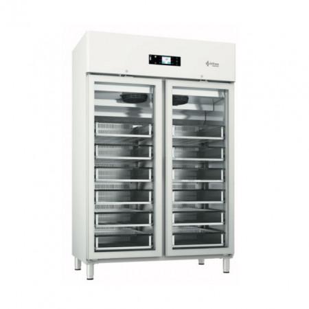Dulap frigorific pentru spitale / banci de sange , 1400 litri , usa de sticla