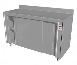 Masa calda tip dulap cu usi glisante si rebord, 1000x600mm