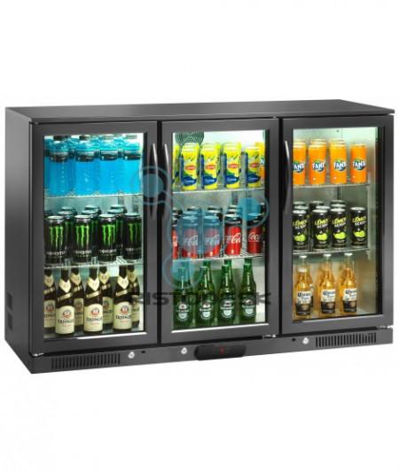Vitrina frigorifica 280 litri, inaltime 840mm cu 3 usi batante