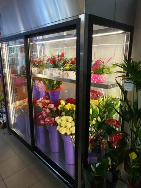Vitrina frigorifica pentru flori L 1800 mm