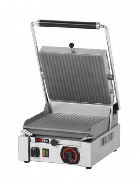 Toaster panini cu mecanism prin apasare pe placi striate