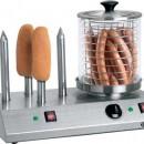 Aparat hot-dog cu 4 tepuse pentru paine si vas din sticla