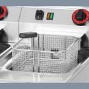 Friteuza electrica profesionala 2×8 litri 230V de banc