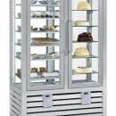 Vitrina frigorifica verticala combinata de prezentare patiserie - gelaterie cu 2 usi, 742 L