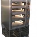 Cuptor electric pentru panificatie cu 4 vetre ,hota si suport