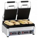 Contact grill panini sandwich dublu striat cu temporizator
