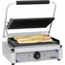 Contact grill panini sandwich striat/neted