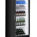 Dulap frigorific cu aer condiționat cu o usa • exterior din oțel vopsit negru