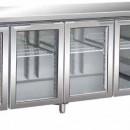 Masa frigorifica cu 4 usi de sticla , 2230x700mm