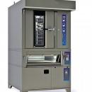 Cuptor rotativ gaz 10 tavi 400x600, vatra electrica 2 tavi 400x600, dospitor electric 12 tavi 400x600 si hota