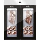 Dulap frigorific cu 2 usi din sticla pentru maturare carne, 300kg, STG MEAT 1500 GLASS