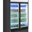 Dulap frigorific cu aer condiționat cu doua usi • exterior din oțel vopsit negru