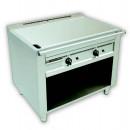 Grill electric Teppanyaki cu 2 zone de gătit.1000 mm