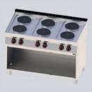 Masina de gatit electrica 6 plite rotunde cu suport deschis