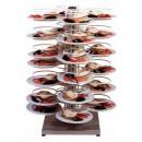 Suport rotativ pentru 48 farfurii, 600x600x1000mm
