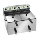 Friteuza electrica profesionala 8+8 litri cu robinet