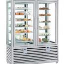 Vitrina frigorifica dubla pentru produse de gelaterie/patiserie, 2 usi, 742 Litri