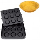 Placa aparat tarte, 9 forme rotunde 90mm