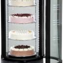 Vitrina frigorifica rotativa pentru cofetarie/patiserie 72L