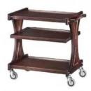 Carucior pentru servire, lemn masiv, 3 polite, 860x550 mm