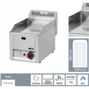 Gratar Fry-top gaz cromat striat 480×320 mm
