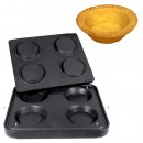 Placa aparat tarte, 4 forme rotunde 125mm