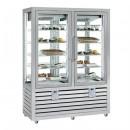 Vitrina frigorifica verticala pentru inghetata / gelaterie ventilata, 2 usi, 848 L