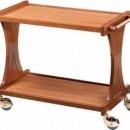 Carucior pentru servire cu structura din lemn masiv, 1060x550 mm