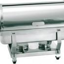 Chafing dish GN 1/1, capac rabatabil si suport pentru combustibil