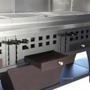 Grill cu trei 3 tăvi de cărbune reglabile 630x420 mm
