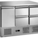 Saladeta ventilata GN1/1 cu o usa si 4 sertare