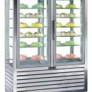 Vitrina frigorifica verticala ventilata de patiserie , 2 usi, 848 litri