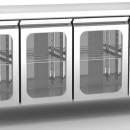 Masa frigorifica ventilata GN 1/1 cu 3 usi de sticla