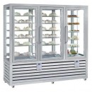 Vitrina frigorifica verticala combinata de prezentare patiserie - gelaterie cu 3 usi, 1388 L