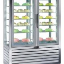 Vitrina frigorifica verticala ventilata de patiserie , 2 usi, 848 litri.