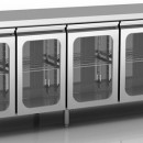 Masa frigorifica ventilata GN 1/1 cu 4 usi de sticla
