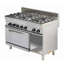 Mașină de gătit pe gaz cu 6 ochiuri și cuptor gaz