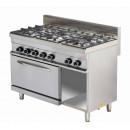Mașină de gătit pe gaz cu 6 ochiuri și cuptor GR732