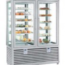 Vitrina frigorifica dubla pentru produse de gelaterie/patiserie, 2 usi, 1082 Litri