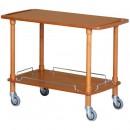 Carucior pentru servire cu structura din lemn masiv, 1100x400mm