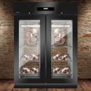 Dulap frigorific cu 2 usi din sticla pentru maturare carne, 300kg, BLACK PANORAMA
