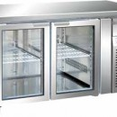 Masa frigorifica cu 2 usi de sticla, 1360x700mm