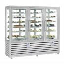 Vitrina frigorifica verticala pentru inghetata cu 3 usi, 427+427+427 L