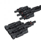 Set conectori MC-4Y cu 3 intrari monobloc pentru panouri fotovoltaice