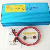 Invertor cu unda sinus pur, 1200W, 24V/220V, 50Hz