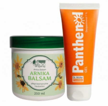 Pachet balsam cu arnica 250ml + Panthenol gel 100ml