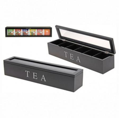 Cutie din lemn pentru depozitare ceai