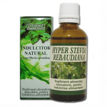 Indulcitor Natural Hyper Stevia Rebaudiana 50 ml