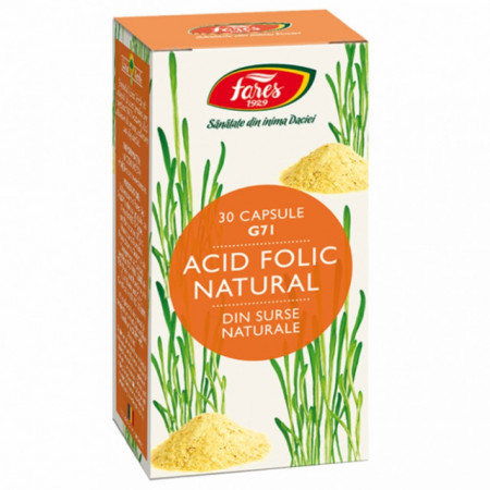 Acid Folic Natural, G71 Fares 30 cps